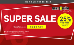 Super Sale + 25% Extra-Rabatt