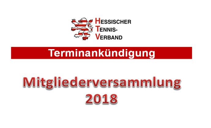 HTV-Mitgliederversammlung am 24. Februar 2018