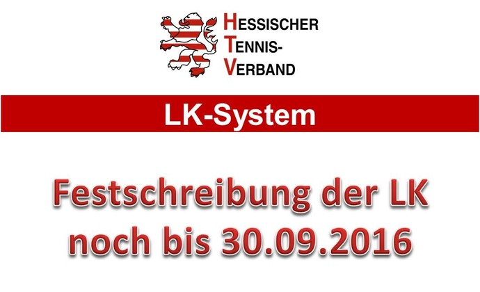 LK-Festschreibung bis 30.09.2016