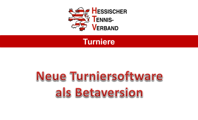 Neues Turnierprogramm