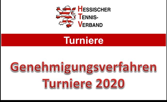 Genehmigungsverfahren für Turniere 2020