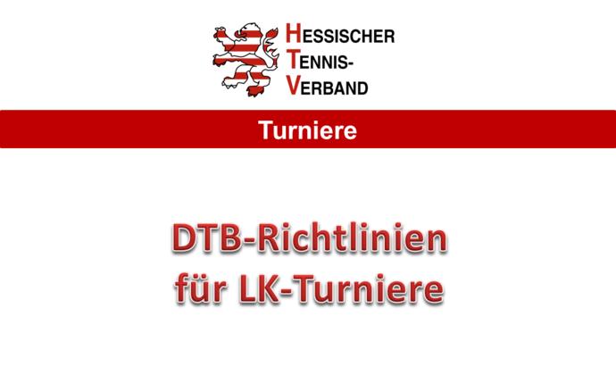DTB-Richlinien für LK-Turniere