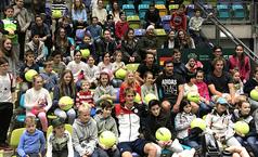 Besuch beim Davis Cup