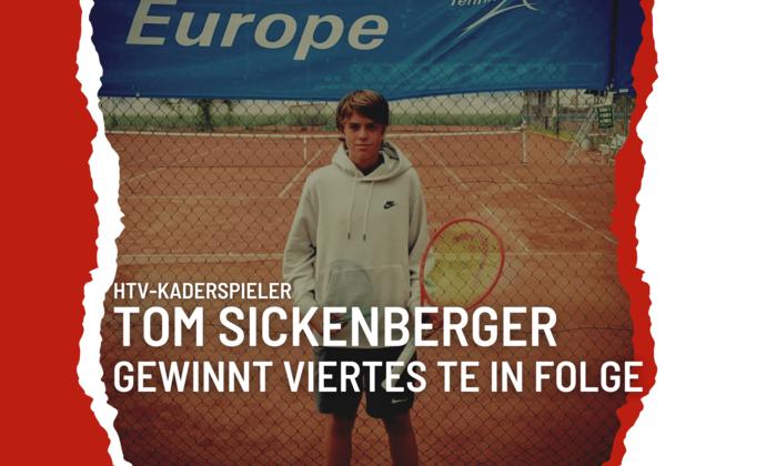 Tom Sickenberger mit Siegesserie