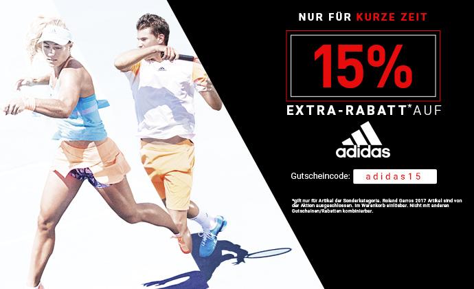 15% Extra-Rabatt auf adidas Styles