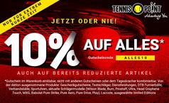 10% AUF ALLES bei Tennis-Point