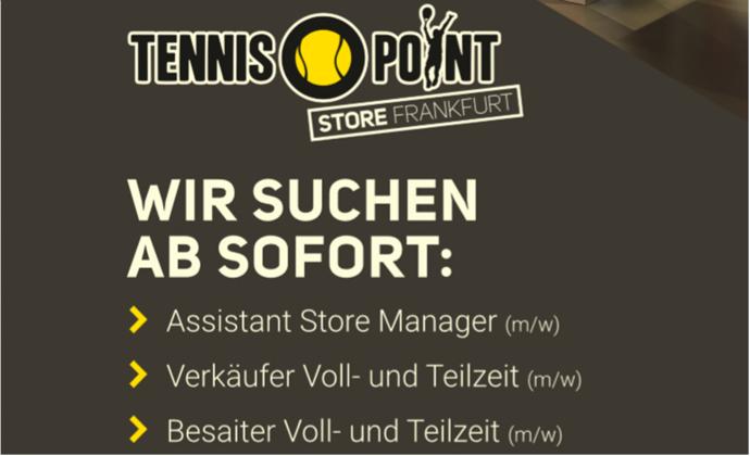 Unser Partner Tennis-Point sucht ab sofort