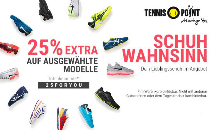 Schuh-Wahnsinn bei unserem Partner Tennis-Point