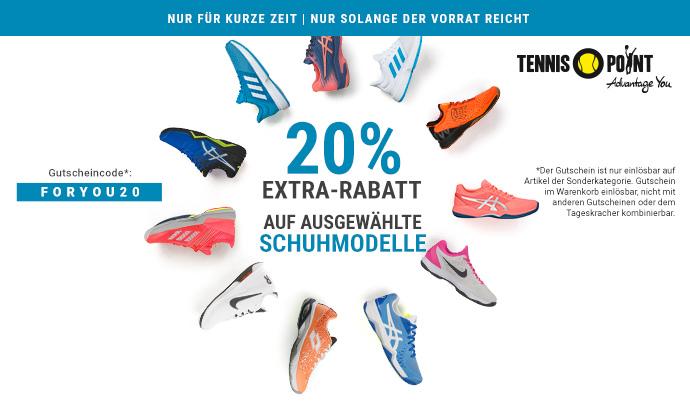 Schuh-Wahnsinn bei Tennis-Point