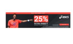 25% Rabatt auf die Asics Kollektion - auch Schuhe
