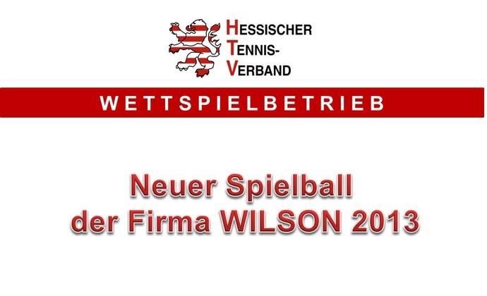 Neuer Spielball von WILSON