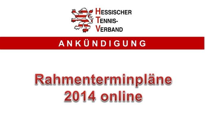 Rahmenterminpläne 2014