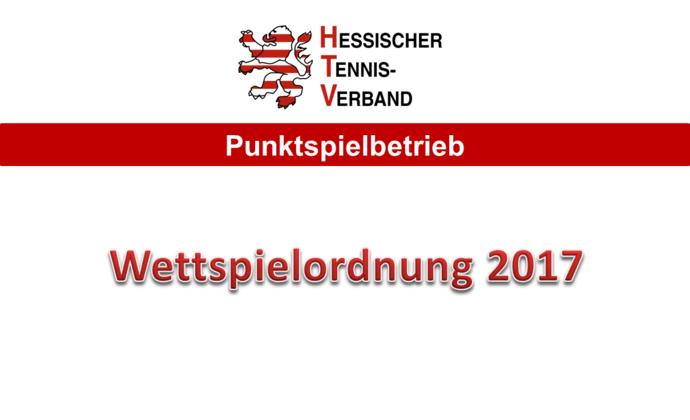 Veröffentlichung der Wettspielordnung 2017