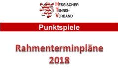 Rahmenterminpläne 2018