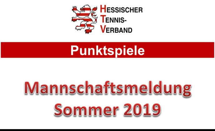 Mannschaftsmeldung Sommer 2019