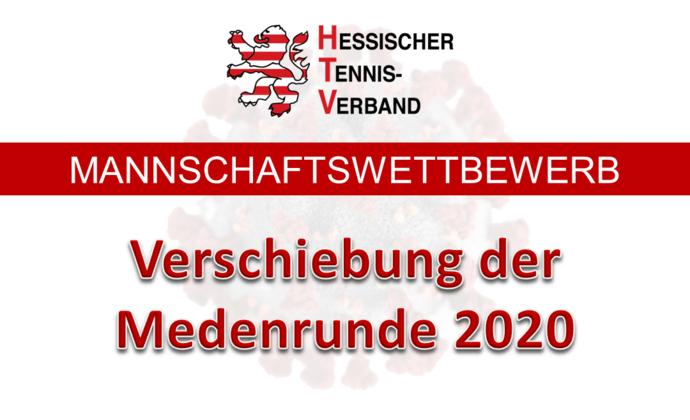 Verschiebung der Medenrunde 2020