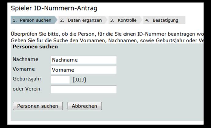 ID-Nummern Antrag über HTO