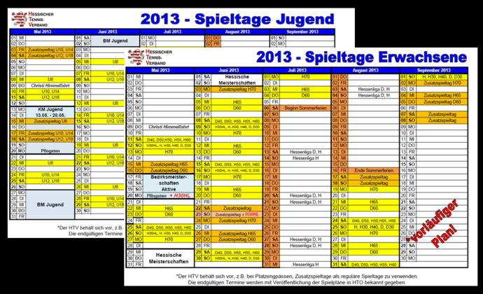 Rahmenterminpläne 2013