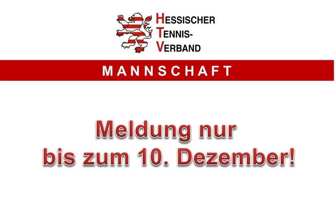 Mannschaftsmeldung bis zum 10. Dezember 2012