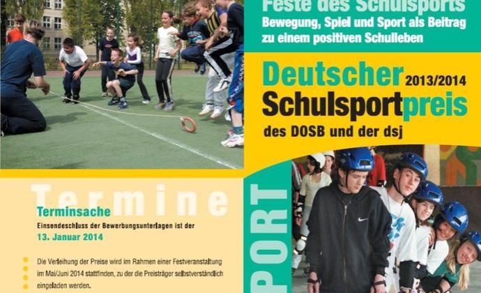 Deutscher Schulsportpreis mit 10.000 Euro dotiert