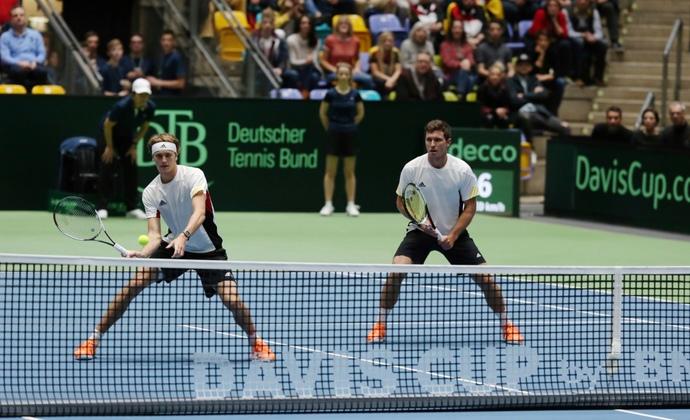Davis Cup Partie gegen Belgien