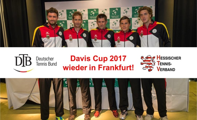 Davis Cup 2017 erneut in Frankfurt am Main