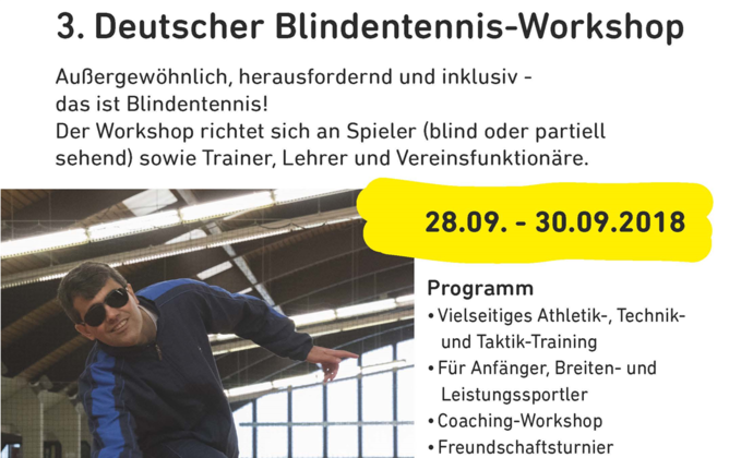 3. Deutscher Blindentennis-Workshop
