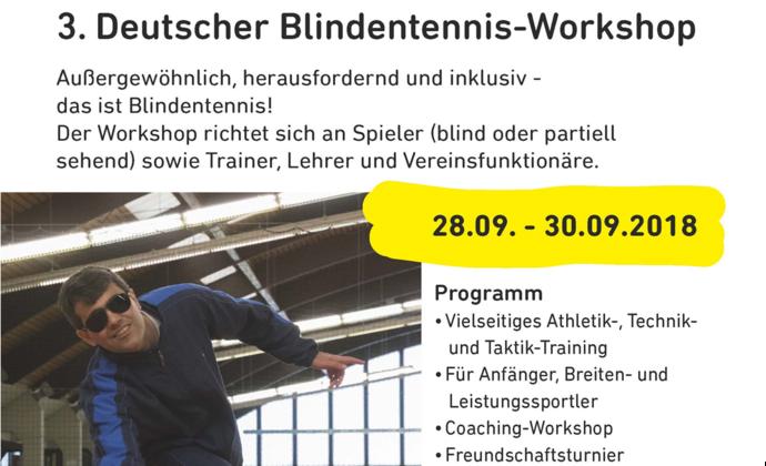 3. Deutscher Blindentennis-Workshop