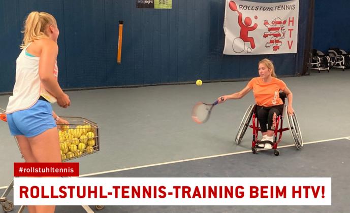 Neu: Rollstuhl-Tennis-Training im HTV