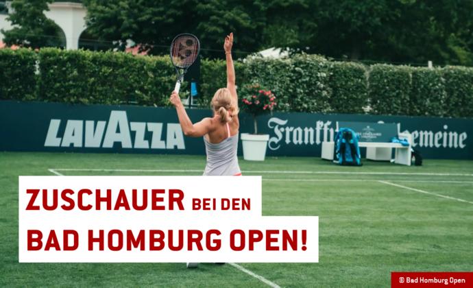 Täglich 600 Zuschauer bei den Bad Homburg Open