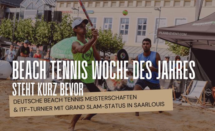 Beach Tennis Woche des Jahres steht kurz bevor