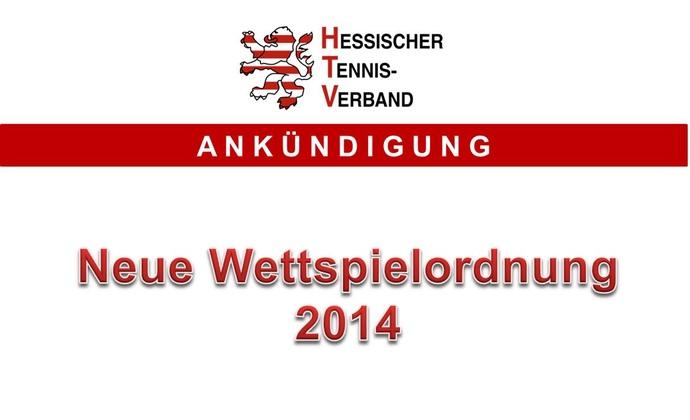 Neue Wettspielordnung für 2014 veröffentlicht