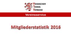 Mitgliederstatistik 2016