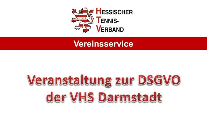 DSGVO-Seminar an der VHS in Darmstadt