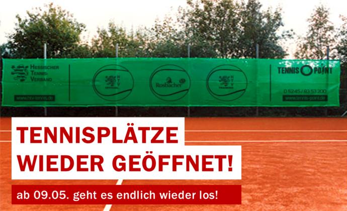 Tennisplätze in Hessen wieder geöffnet!