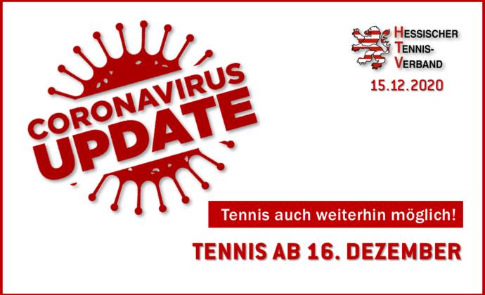 Tennis ab 16. Dezember