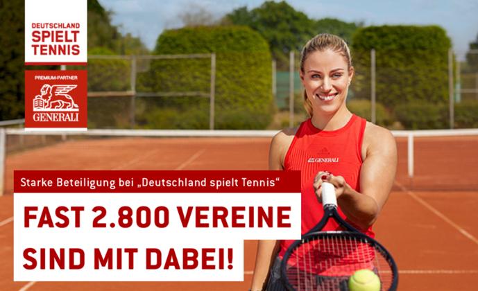 """Fast 2.800 Vereine: Starke Beteiligung bei """"Deutschland spielt Tennis"""""""