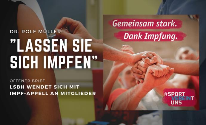 """Dr. Rolf Müller: """"Lassen Sie sich impfen"""""""