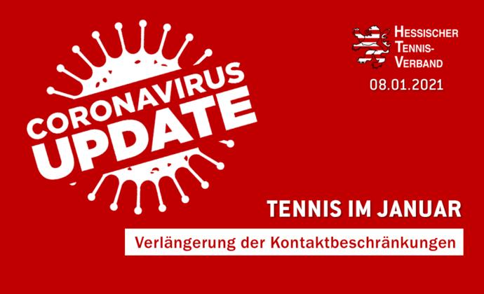 Tennistraining im Januar weiterhin erlaubt!